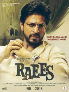 Raees Bollywood Movie Poster Image 1