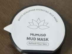 Mumuso White Nenuphar Hydrating Mud Mask Review